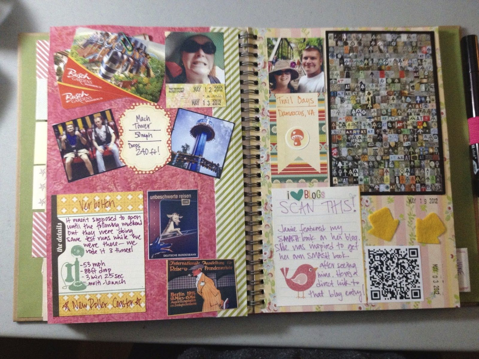 This time last year: Project Life SMASH book May 2012