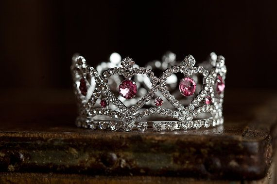 Claira Mini Pink Rhinestone Crown, Newborn Photography prop, Toddler/Child Flower Girl Princess Tiara $28 + 3.50