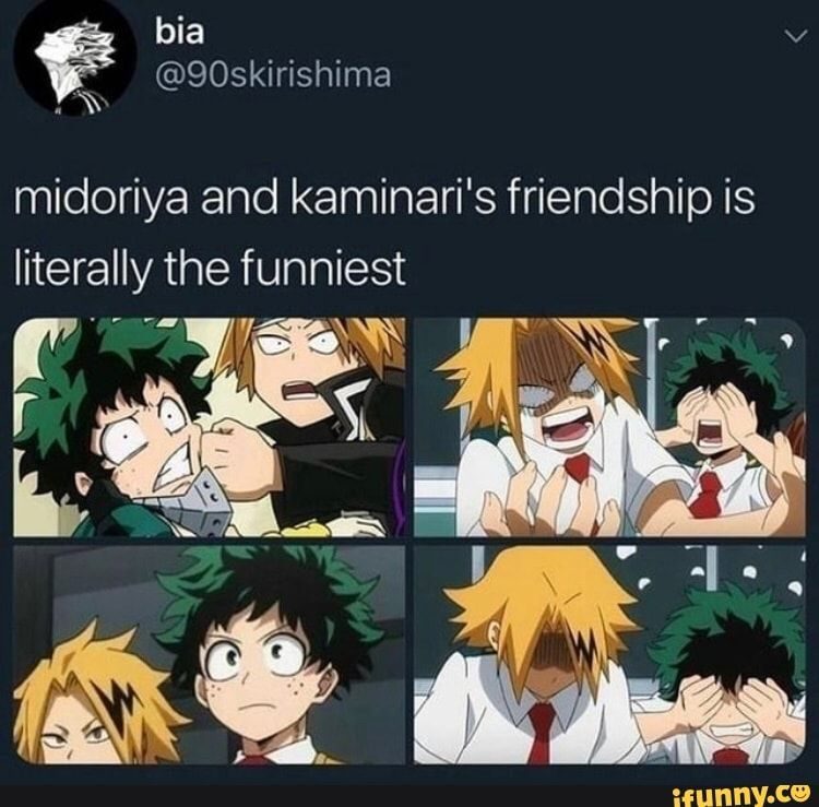 Midoriya And Kaminari S Friendship Is Literally The Funniest