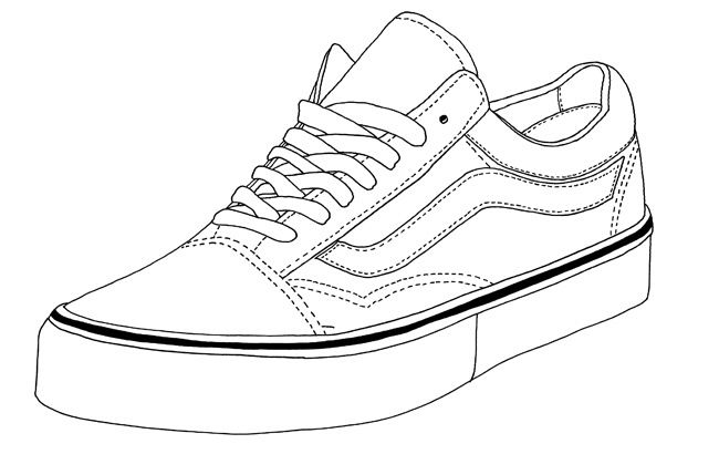 Vans Old Skool Sneakers Drawing Sneakers Sketch Shoes Drawing