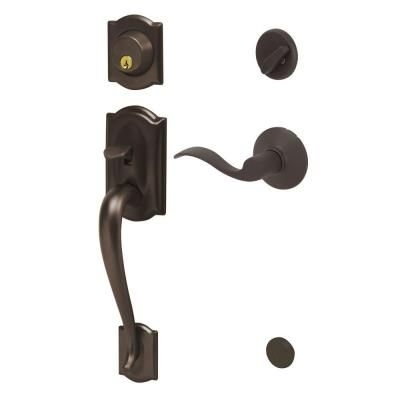 Schlage Camelot Oil Rubbed Bronze Single Cylinder Deadbolt With