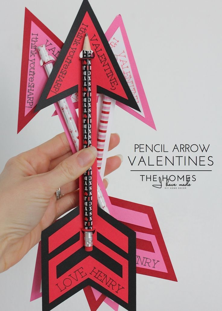 Pencil Arrow Valentines | The Homes I Have Made