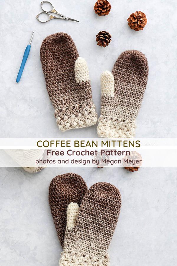 #Crochet #daily #Knit #Mittens #One Skein Crochet Projects #Skein One Skein Crochet Mittens - Knit And Crochet Daily,  #Crochet #Daily #Knit #Mittens #Skein