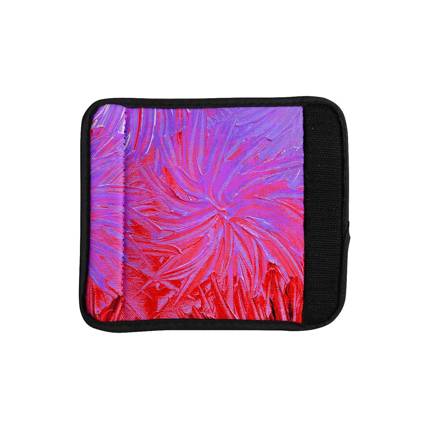 Kess InHouse Ebi Emporium 'Water Flowers Crimson Lilac' Red Luggage Handle Wrap