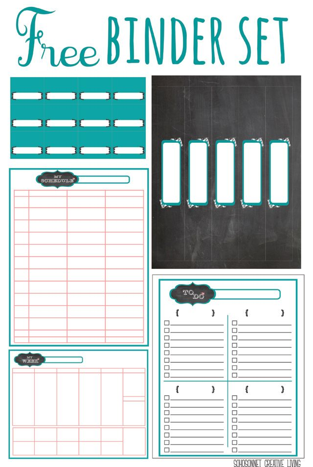 free printable chalkboard labels binders and storage organization