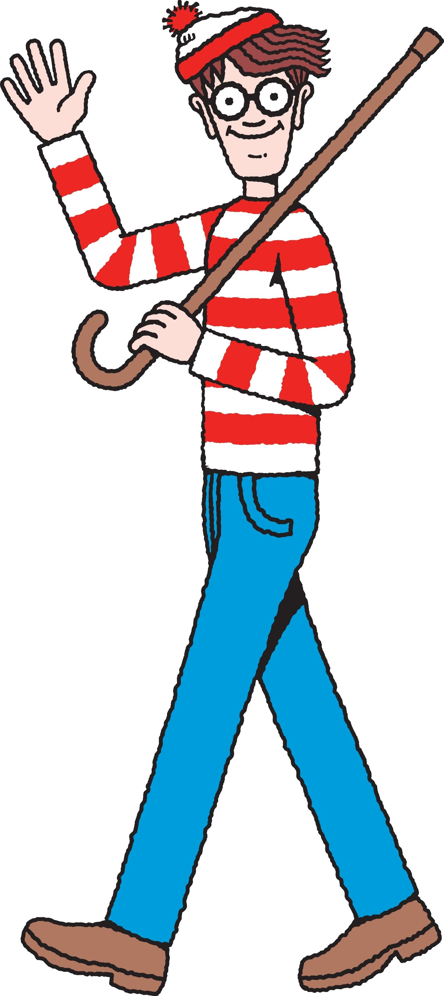 Make little wheres waldo stickers and stick them in random public places