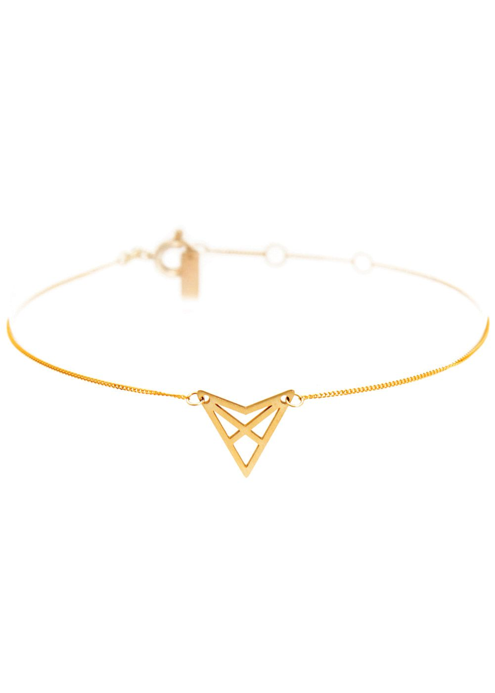 Chain bracelet - design gold plated delicate and minimalistic