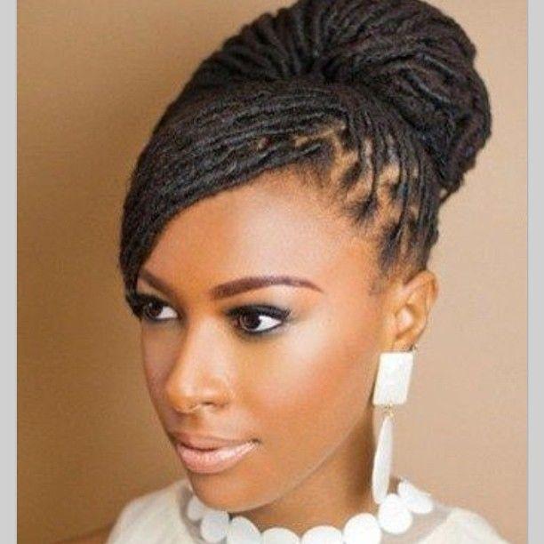 beautiful loc bun hair style for brides   bridal dreadlocks