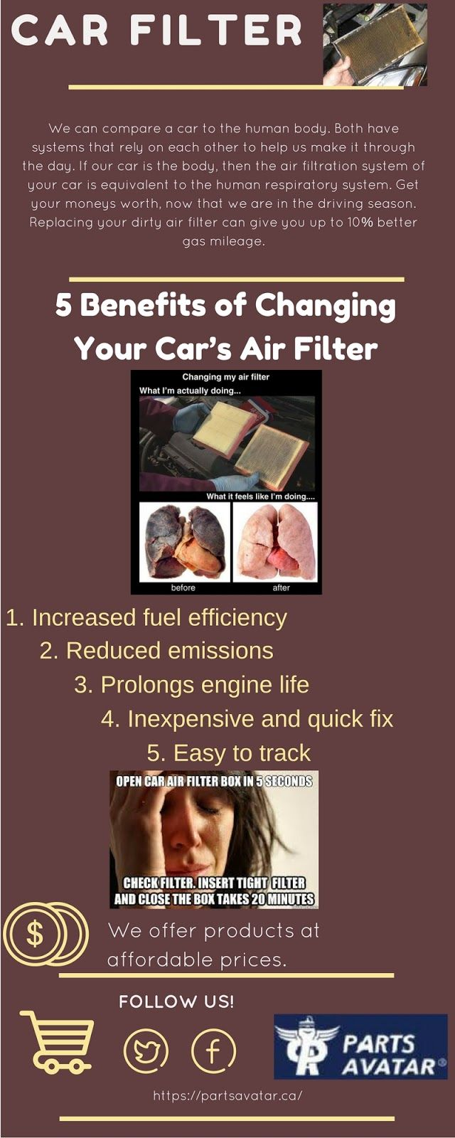 Keep those air filters clean to keep your engine running