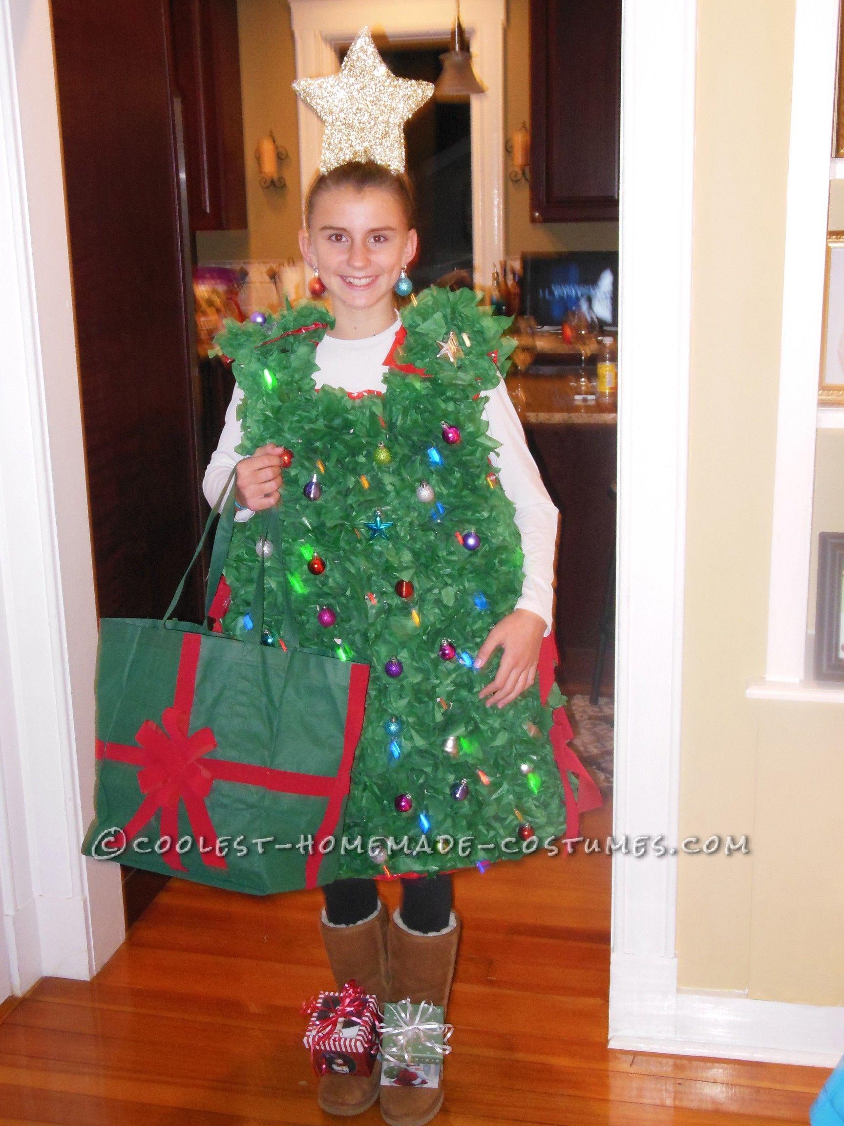 Cool Twinkling Christmas Tree Costume Tree Costume Christmas Tree Costume Christmas Tree Halloween Costume