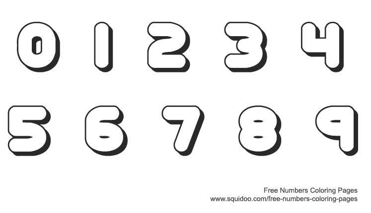 Zahlen Schablone Zum Ausschneiden Ausmalbild66 Net Ausmalbilder Printable Numbers Coloring Pages Free Printable Numbers