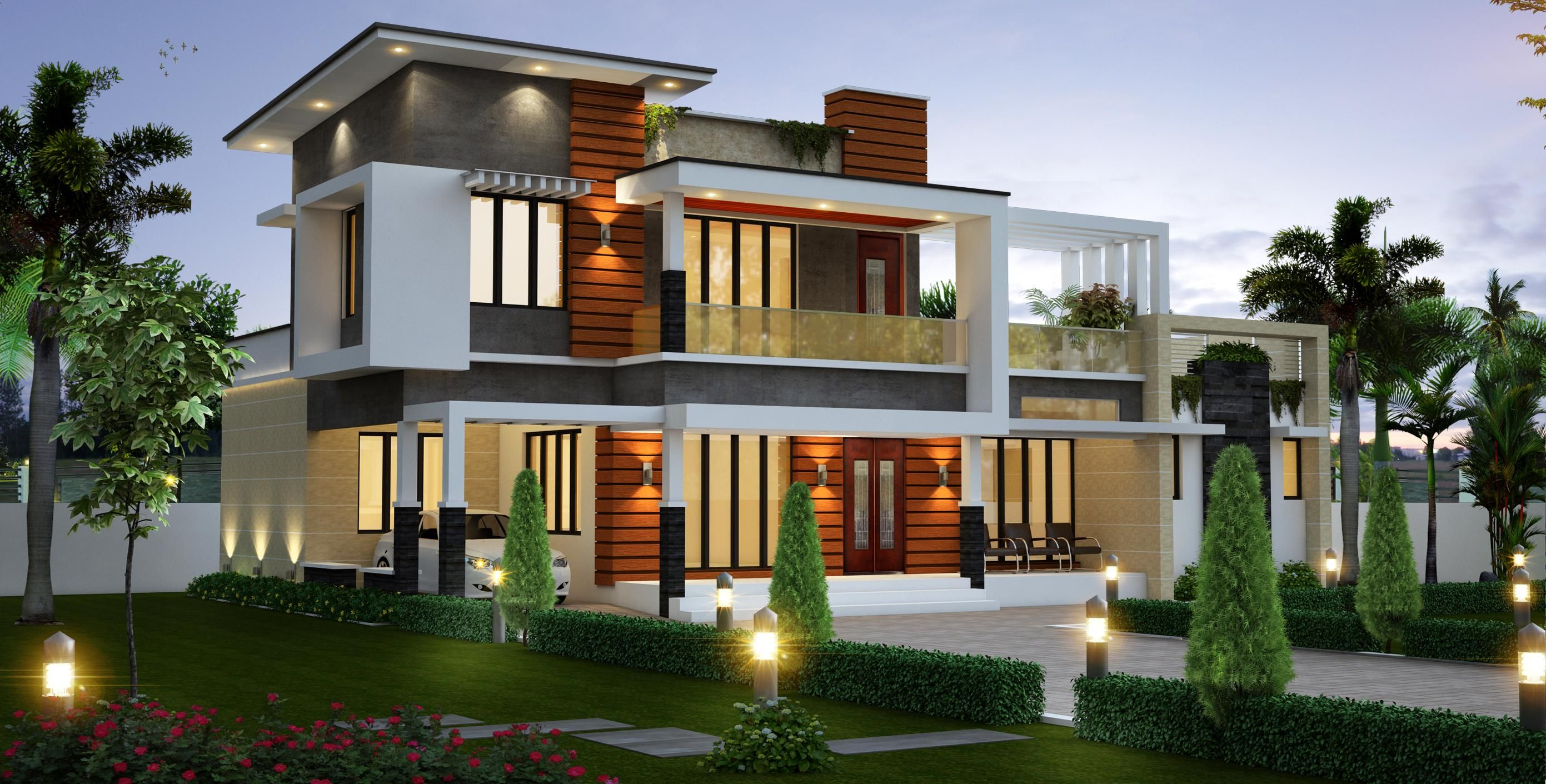 Client Mr Premji Creohomes 2 Storey House Design Modern House Philippines House Design Pictures