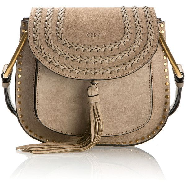 Chloé Grey Suede Hudson Small Bag 23 730 Zar Liked On Polyvore Featuring Bags Handbags Tassel Purse Chloe And