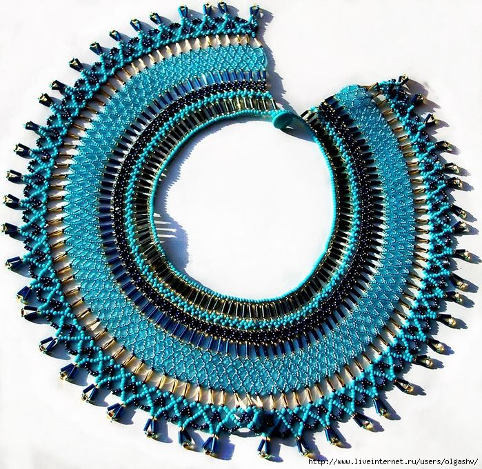Free Beading Tutorial Instructions Necklace Pattern 13 700x680