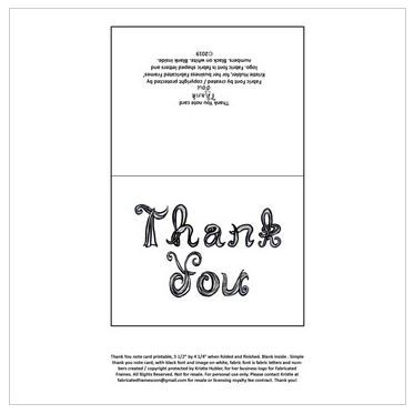 Thank You note card printable download fabric letters font Nov 14 15 16 17 2019 teacher resource