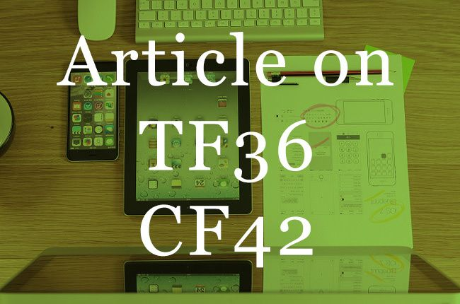 post your article on my CF 42 TF36 Tech Blog by ittechpages