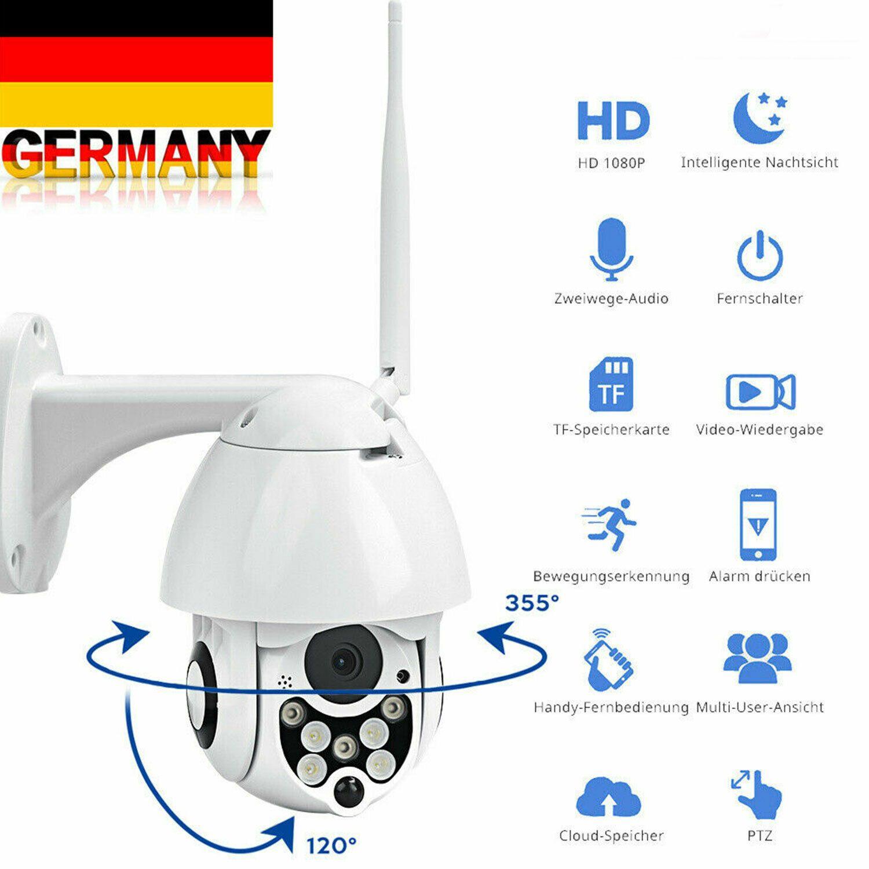 HD 1080P Außenkamera IP NETZWERK Überwachungskamera Outdoor FUNK WLAN DOME CCTV