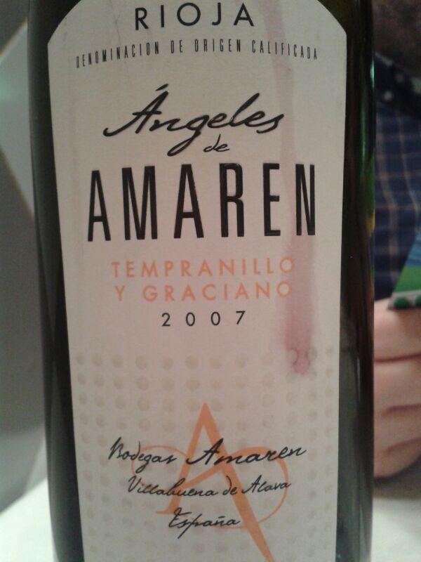 Angeles De Amaren 2007 Do Rioja Tempranillo Y Graciano Barrica