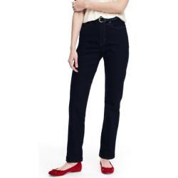Photo of Jeans denim dritti Taillenhohe in Petite-Größe – Blau – 34 30 von Lands 'End Lands' End