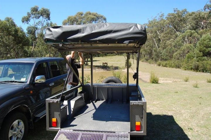 Motorbike Camper Trailer With Kitchen Tent And Room For 3