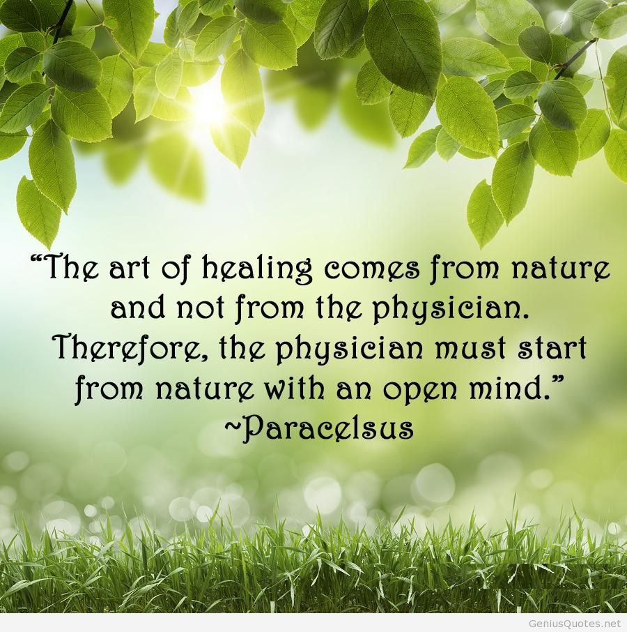 Natural Healing Mechanisms Health Pinterest Nature Quotes
