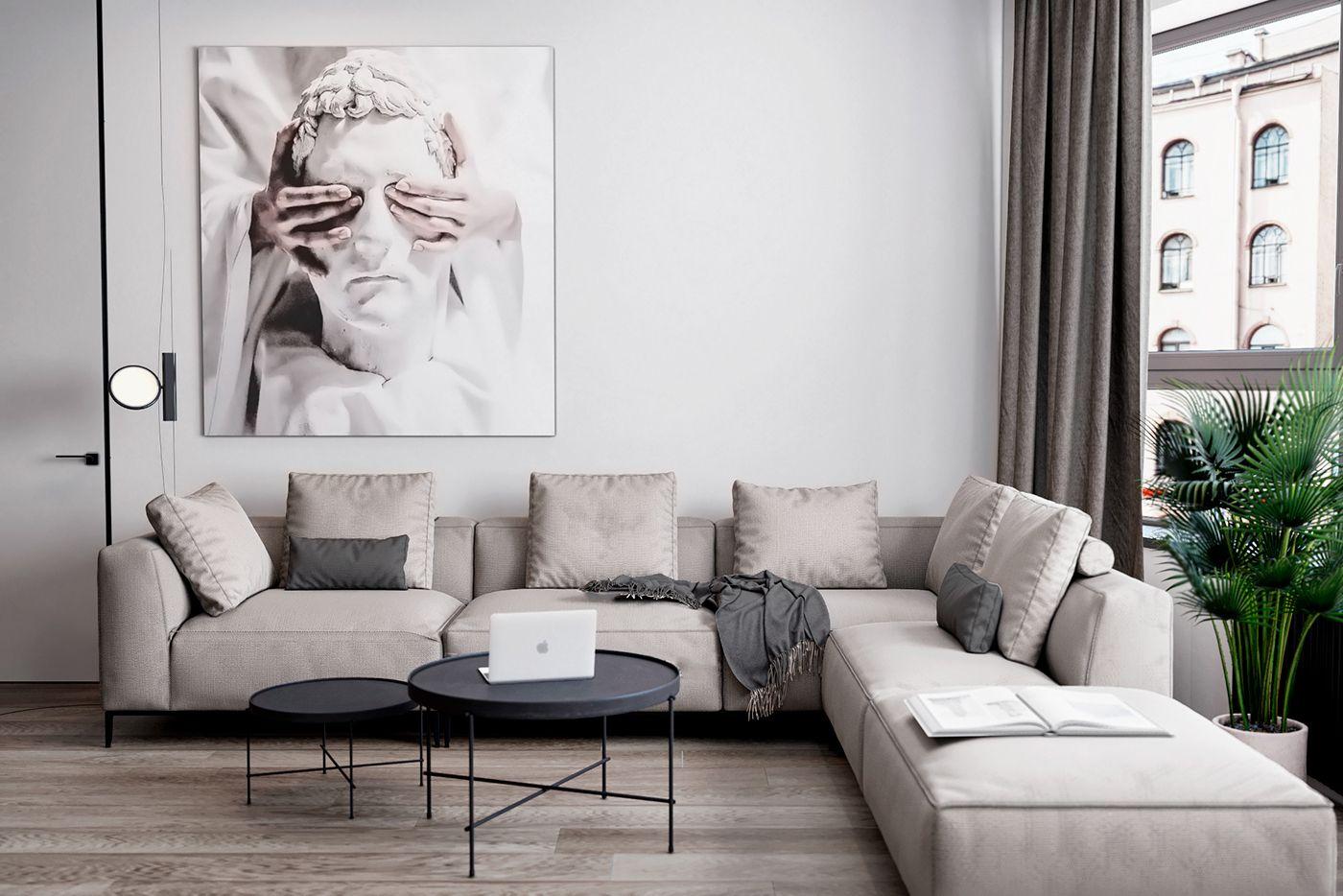 Скандинавский функционализм on behance interior living room