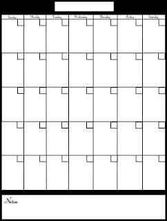 Blank Calendar Printables   Pinteres