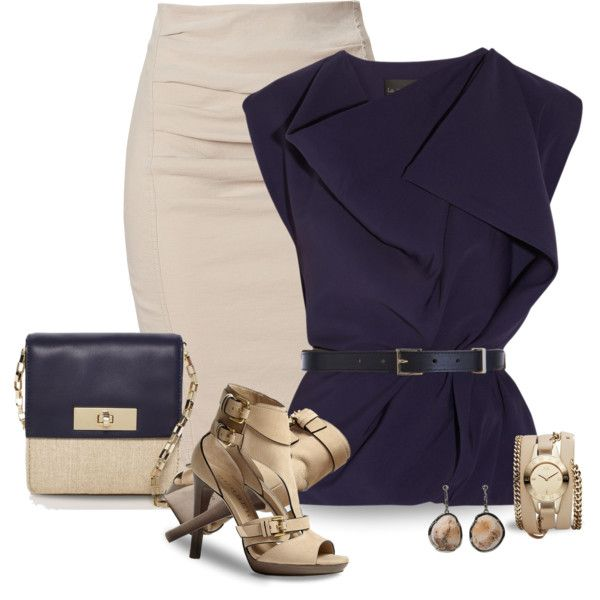"""""""Navy & Taupe"""" by justjules2332 on Polyvore"""