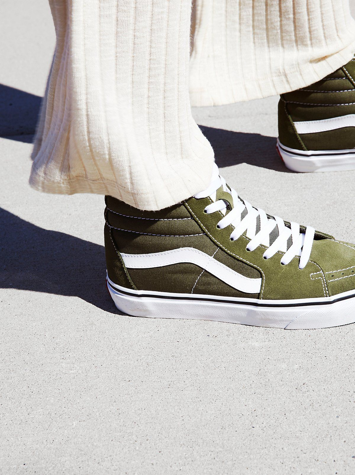 Sk8-Hi Slim Hi Top Sneaker | Green vans