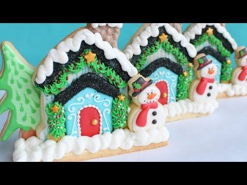 mini holiday cookie 3d scene cookie decorating christmas cookies youtube - Christmas Cookies Decorating Ideas Youtube
