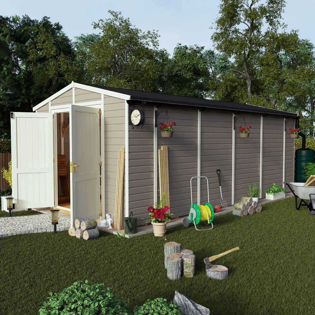 billyoh 6000 20 x 10 workshop shed windowless gable end door i