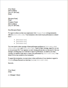 Trainee Employee Termination Letter Download At HttpWww