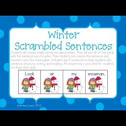 sentences about winter season