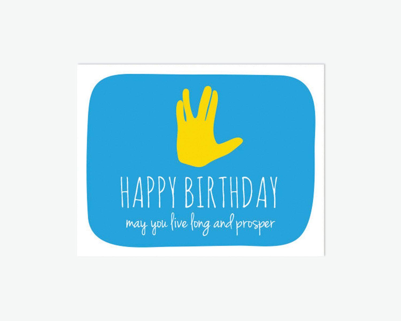 Printable Star Trek Birthday Card Funny By Remembernovemberinc Funny Birthday Cards Birthday Cards Star Trek Birthday