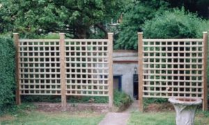 Going to make my own trellis fence like this for the side of our