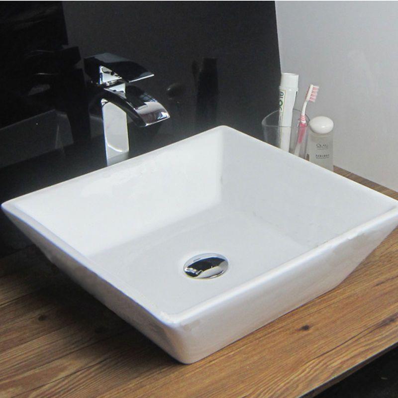 Stylish U0026 Modern Square Small Hand Wash Countertop Basin Sink No Tap Hole