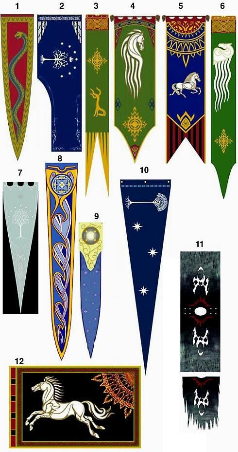 Cool Middle Earth Flags And Banners