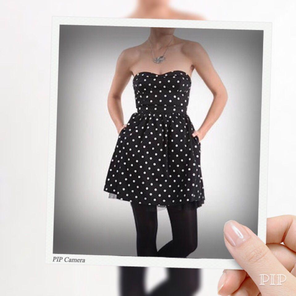 Hp Adorable Polka Dot Strapless Dress