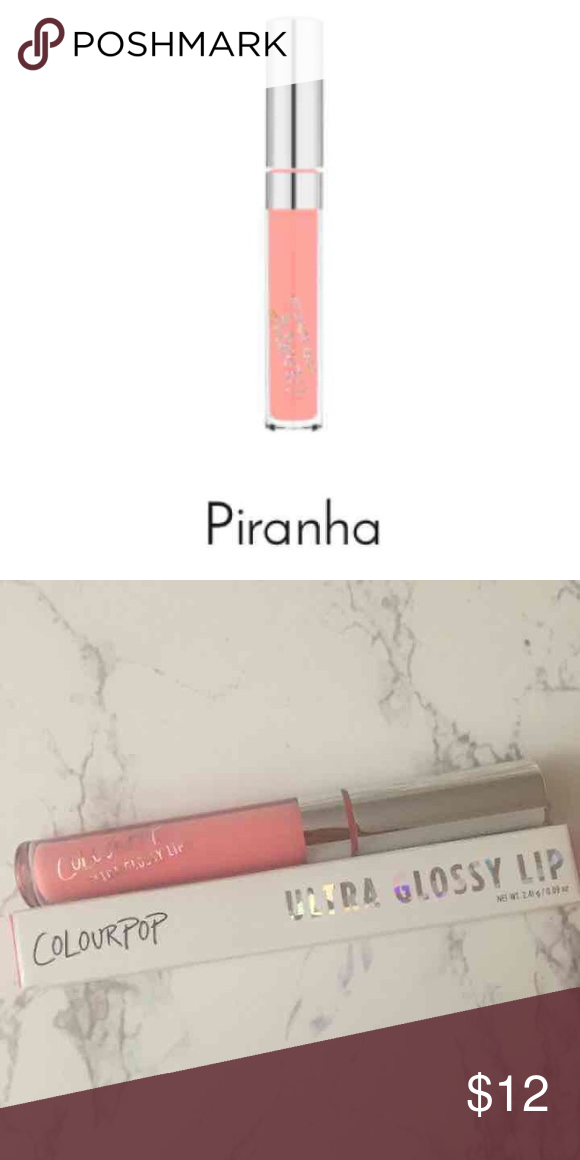 Colourpop Ultra Glossy Lip Color: Piranha  Never Used Price Is Firm  No Trades   Do Not Comment Unless You're A Serious Buyer!   More Colourpop On My Page! Colourpop Makeup Lip Balm & Gloss