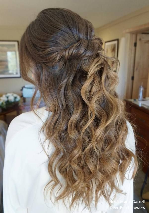 Top 20 Half Up Half Down Wedding Hairstyles from Heidi Marie Garrett