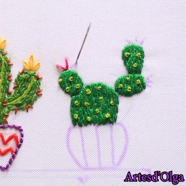 Cómo Bordar Cactus