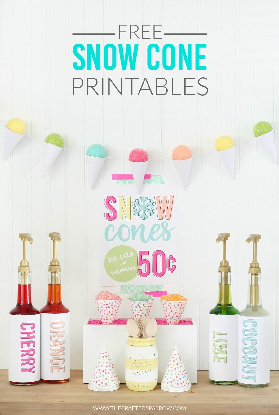 Free Snow Cone Printables Crafted Sparrow Printables Pinterest