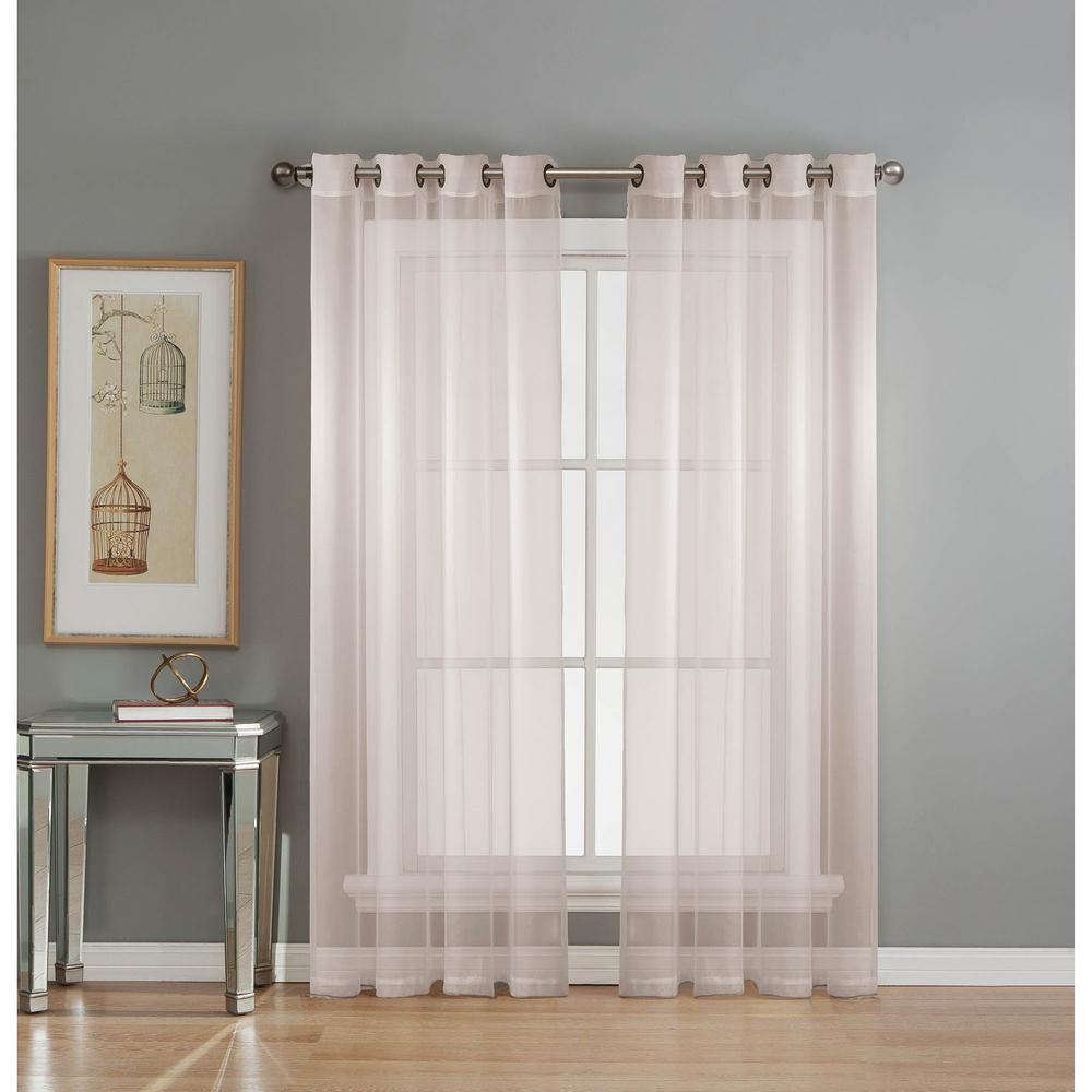 Window Elements Sheer Sheer Elegance 84 In L Grommet Curtain