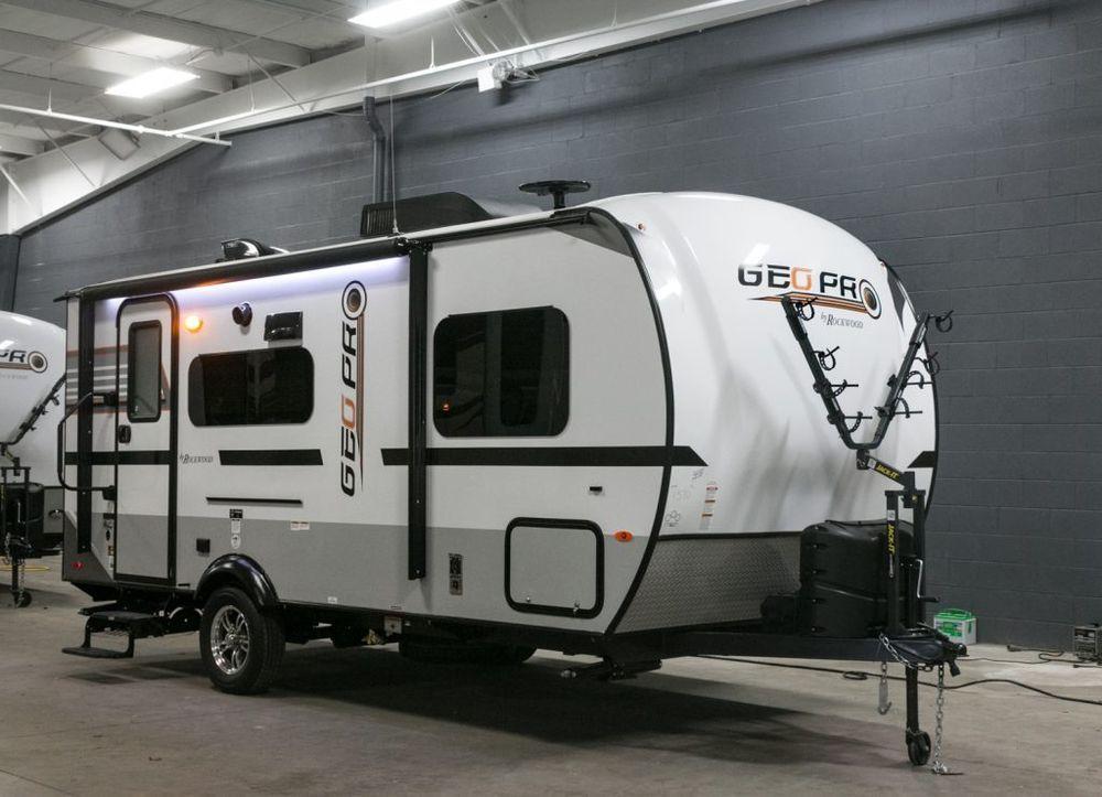 New 2018 Forest River Rockwood Geo Pro 19fbs Camper Rv Travel
