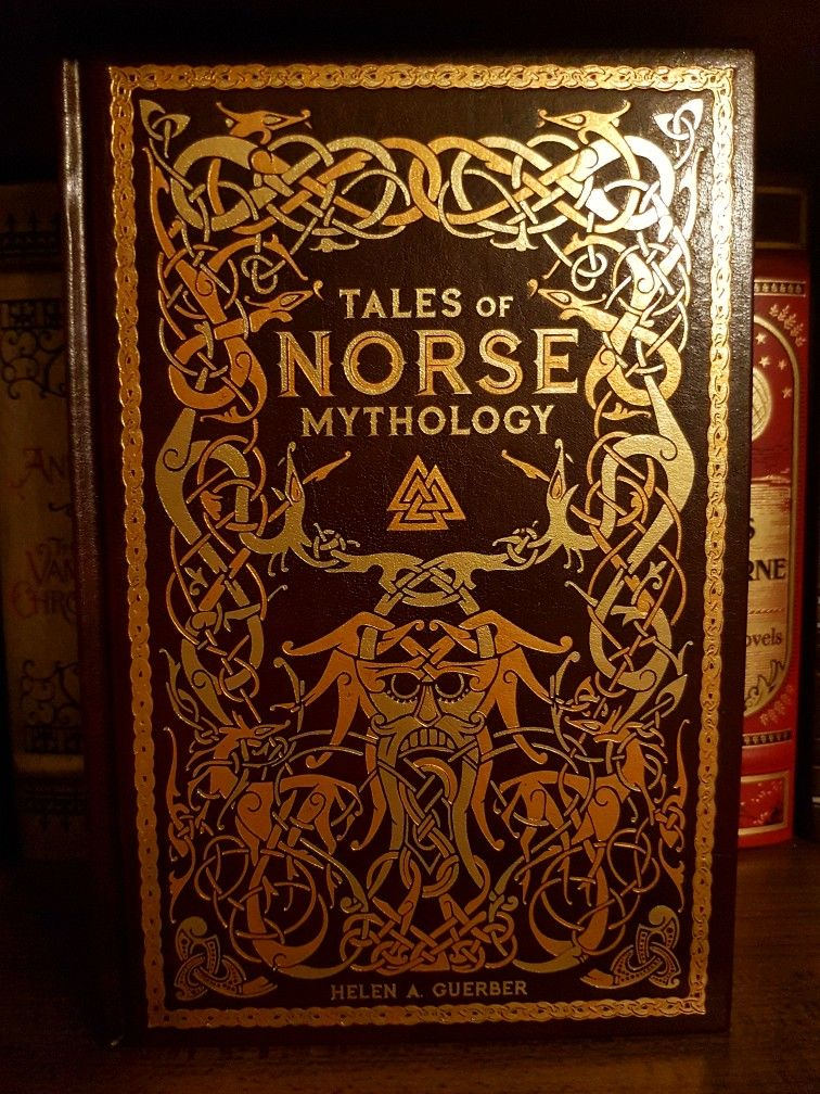 Barnes and noble leatherbound norse mythology book norse