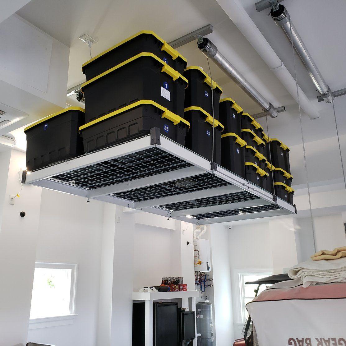 4x8 ft auxxlift premium 1400 400 lb garage storage