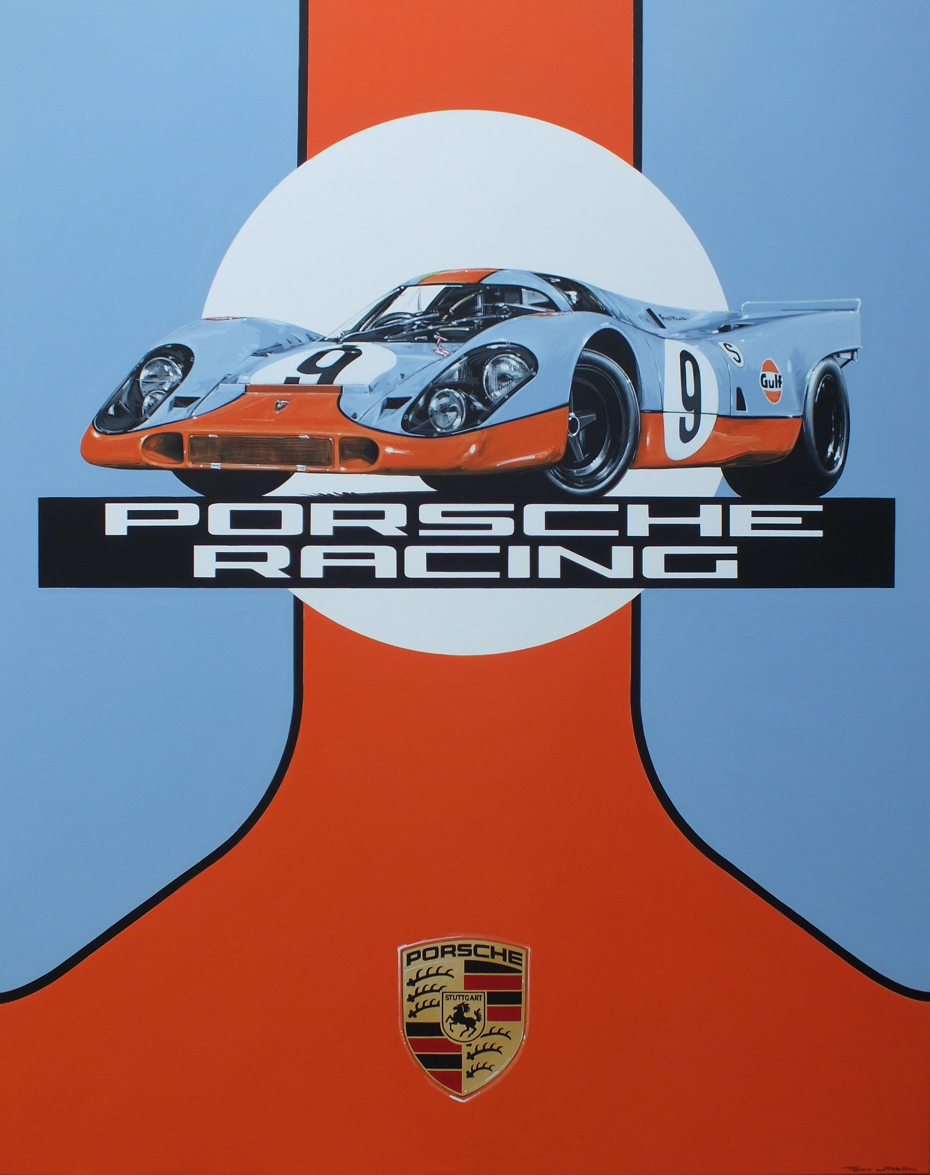 Home gt steve mcqueen porsche paintings - Acrylic On Canvas Porsche