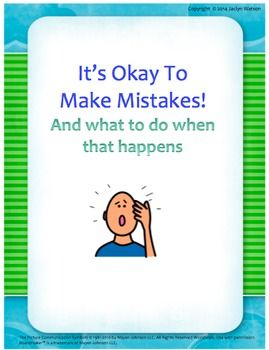 $ Making mistakes social story and worksheets