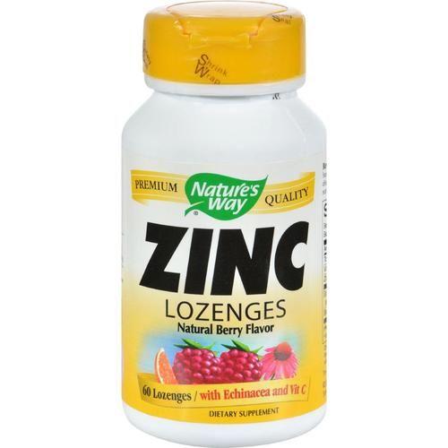 Nature's Way Zinc Lozenges Natural Berry - 60 Capsules - 0637660