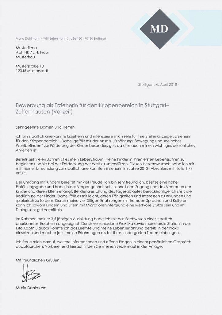 Bewerbung Praktikum Kindergarten Ausbildung 2021 Document Templates Informative Templates
